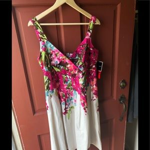 R&K size 16 floral dress new with tags